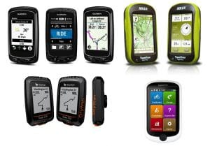 Plusieurs GPS vélo en démonstration