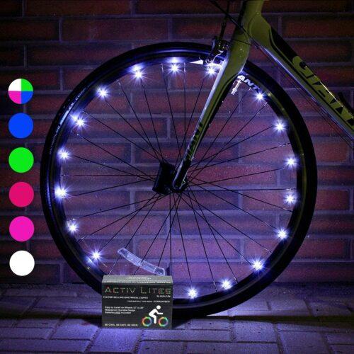 Lumière de roue vélo