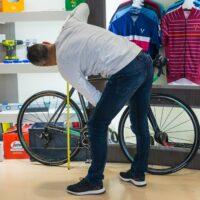 Prise de mesures sur mon vélo pour l'étude posturale
