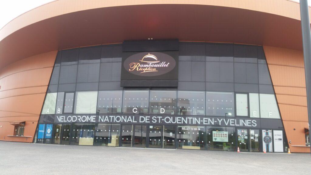 Mon arrivée au vélodrome national de Saint-Quentin-en-Yvelines