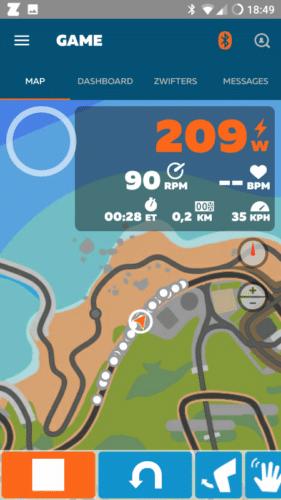 L'application Zwift Companion sur mobile