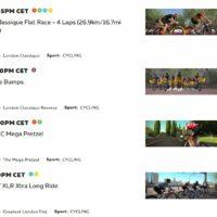 La liste des sorties proposées pour rouler avec d'autres cyclistes