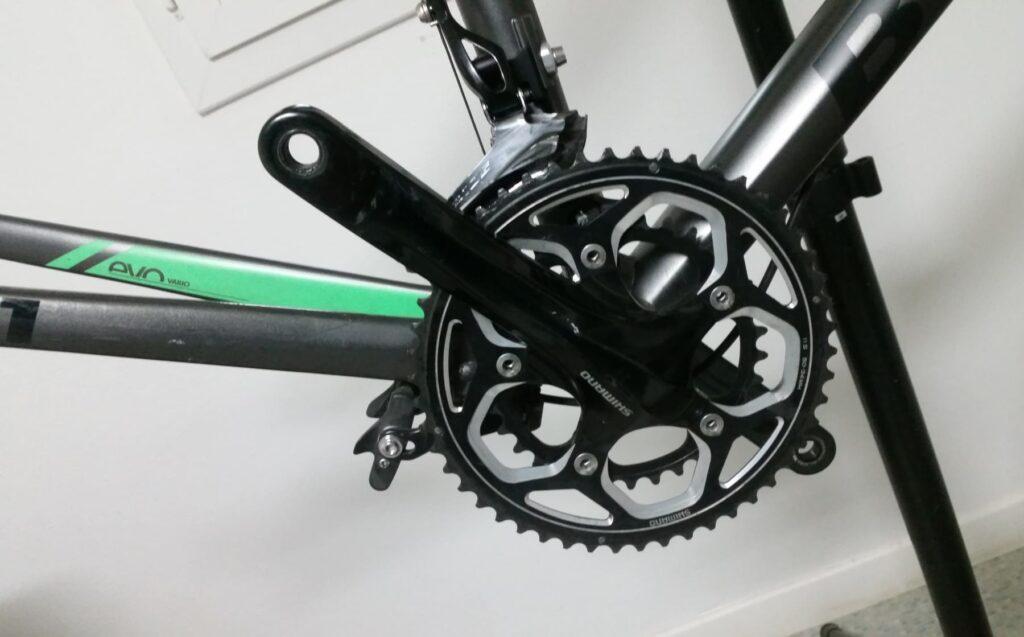 Le pédalier RS500 sans la chaîne de vélo