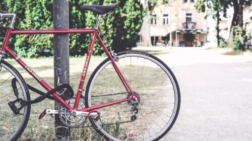 vélo avec un antivol