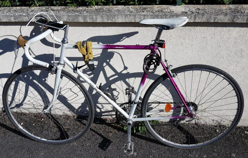 Mon vieux vélo de 30 ans pour me déplacer en ville et en vélotaf