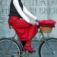 Jupe imperméable pour femme à vélo
