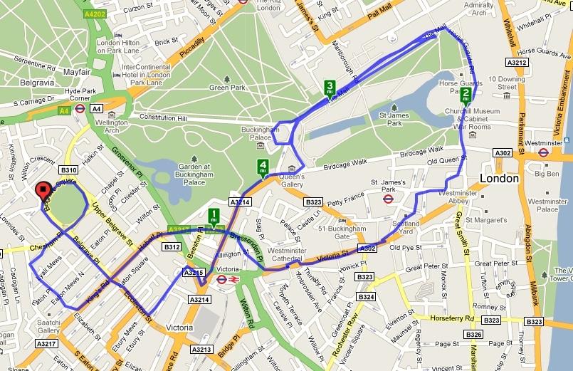 Utilisation de Cyclemeter autour de Londres