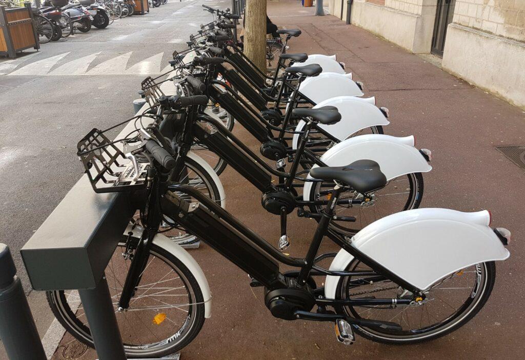 Une flotte de vélo de ville du Grand Paris