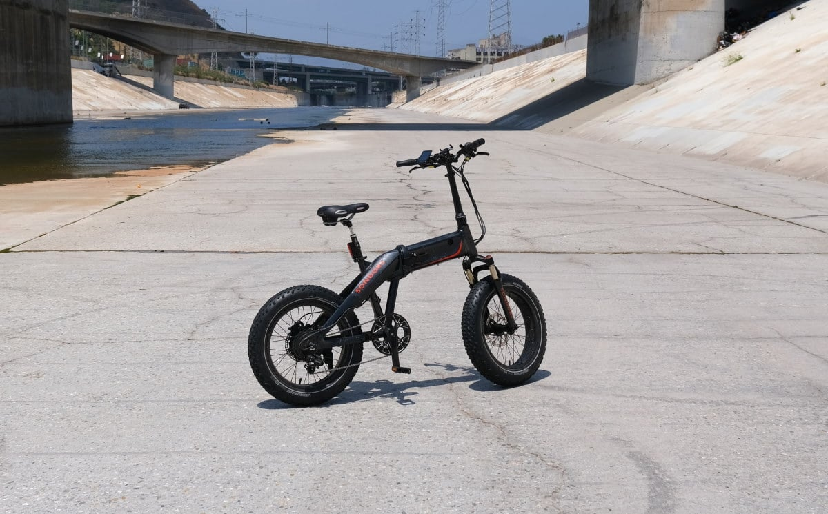 Un FatBike Haibike FullFatSiw avec suspension arrière