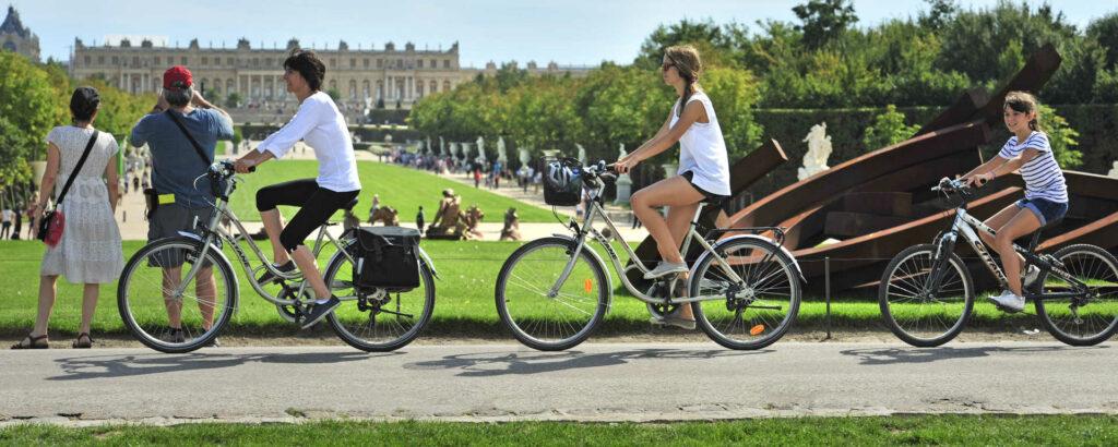 Les jardins de Versailles à vélo