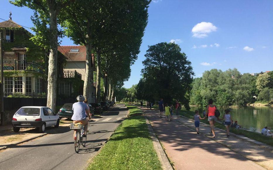 Bord de Marne à vélo
