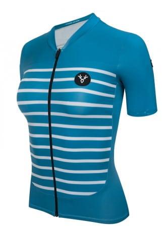 Un maillot pour femme cycliste