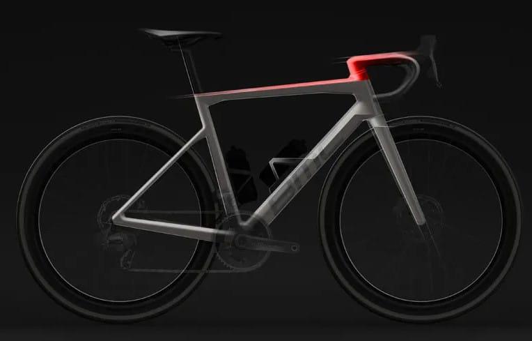Un rendu 3D du vélo BMC TeamMachine
