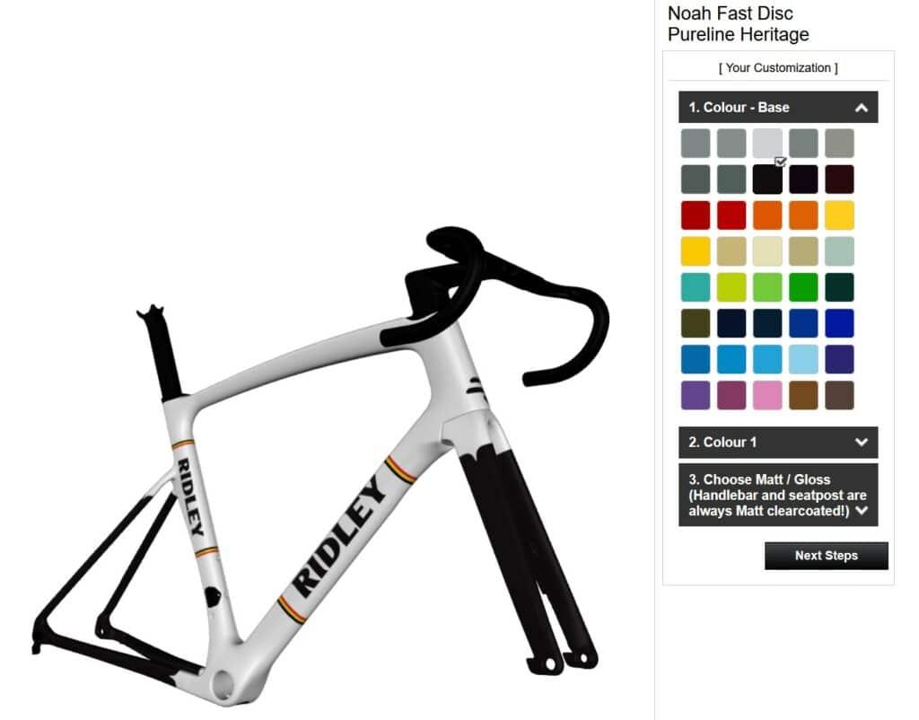 L'outil de personnalisation de vélo Ridley avec Dreambuilder