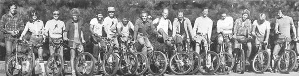 Le groupe d'ami qui fait du VTT dans les années 1970