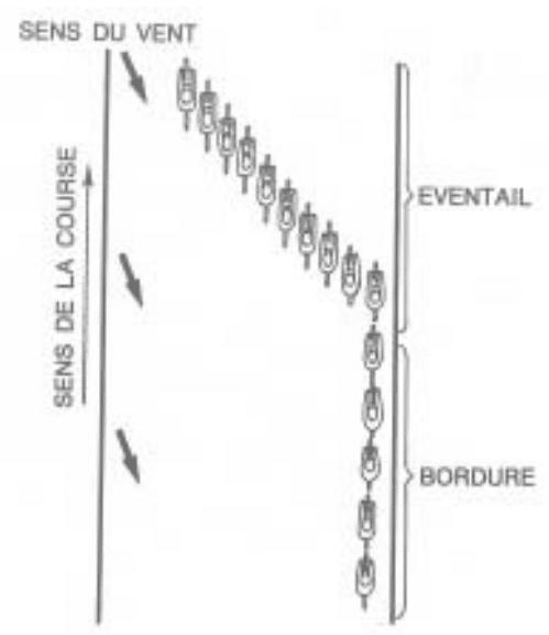 Explication d'une bordure lorsque l'on roule en peloton