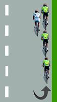 Le cycliste blanc sort du peloton