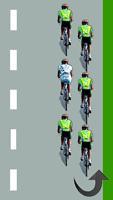 Le cycliste blanc descend par la gauche