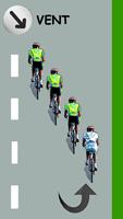 Le cycliste blanc se trouve en queue de peloton