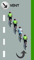 Le cycliste blanc remonte le peloton