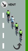 Le cycliste blanc est juste derrière le leader