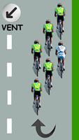 Le cycliste blanc descend juste derrière lui