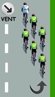 Le cycliste blanc est devant le peloton