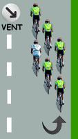 Le cycliste blanc descend derrière