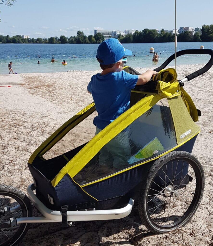 La remorque de vélo Croozer se transforme en poussette de running